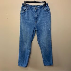 Vintage L.L. Bean Mom Jeans with Elastic Waist